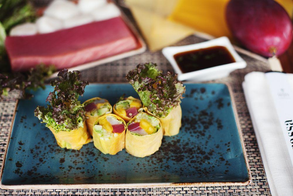 #food #ginzaproject #terrassa #restaurant #terrassa #yummi #japan #mango #roll