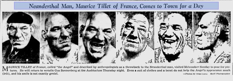 The MANY faces of Maurice Tillet.