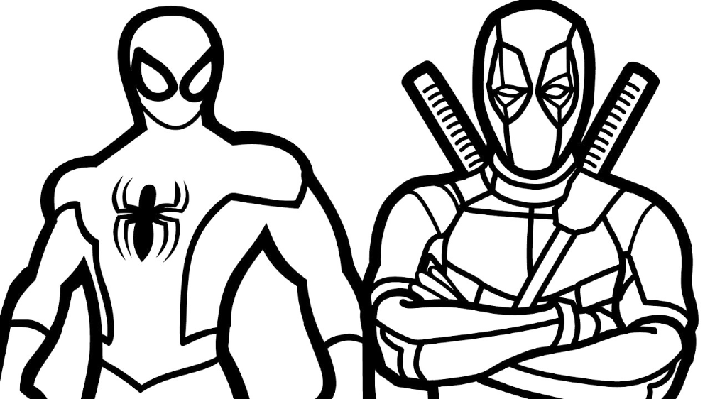 Coloring Pages : Coloring Ideas Deadpool Andan Pages