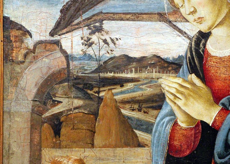 Biagio d'Antonio Tucci, Madonna col Bambino e un Angelo, dettaglio, 1475 ca. -Museu de Arte de São Paulo