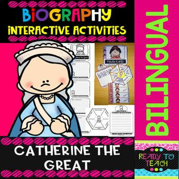 ENGLISH VERSIONYou will find a set of 4 different tasks to work on the biographies of Catherine the Great. There are 4 interactive activities to be done:Interactive Task 1: Students have to search facts about the biography of this famous person and write those facts related to his/her early and fam...