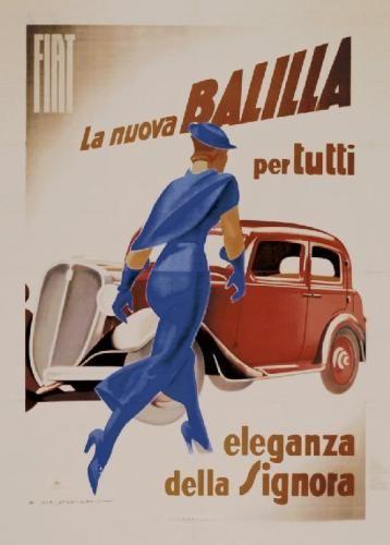 Balilla, 1934 Impressão artística por Marcello Dudovich Easyart.com