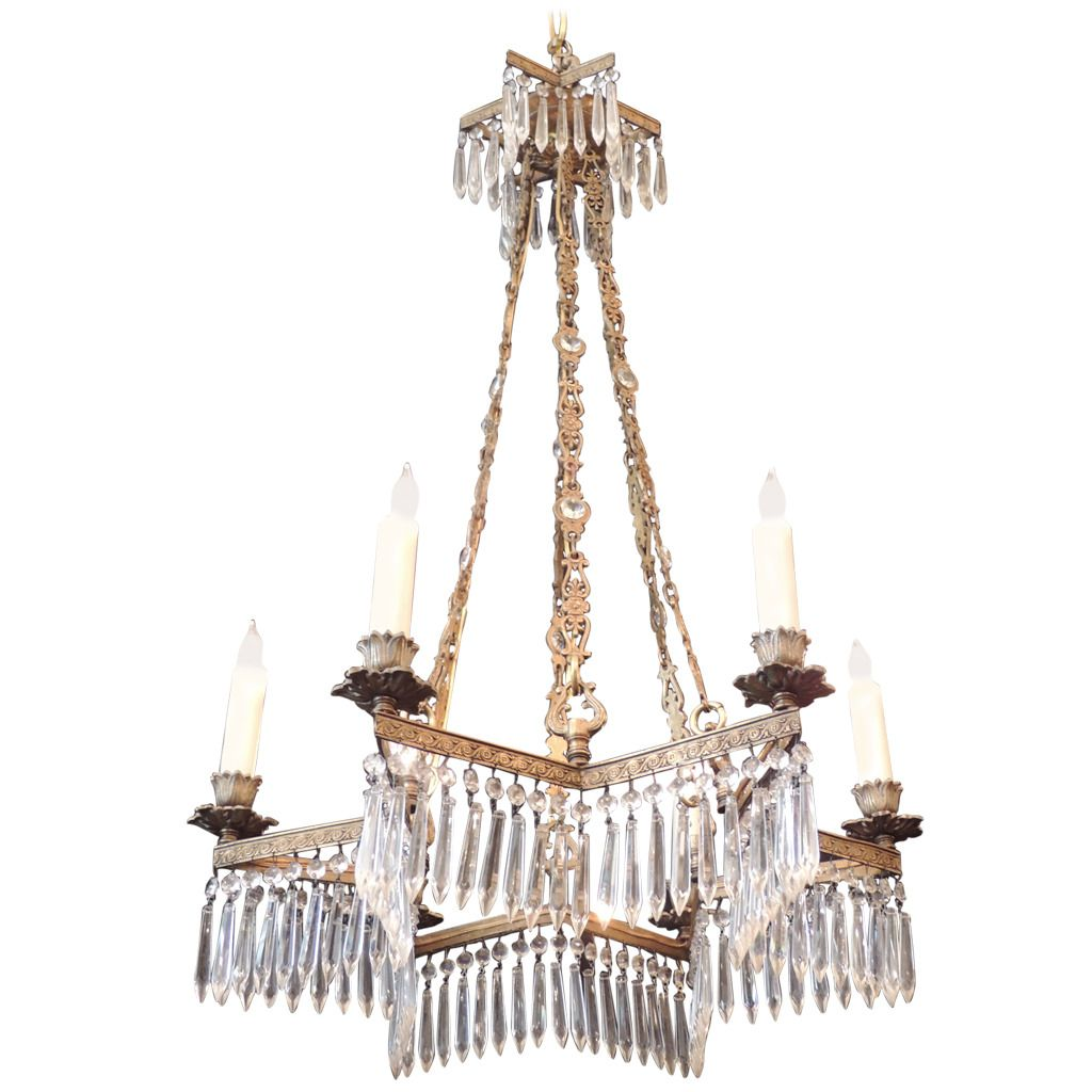 Mid 19th century bronze star shaped chandelier from a unique mid 19th century bronze star shaped chandelier from a unique collection of antique and modern chandeliers and pendants at aloadofball Image collections