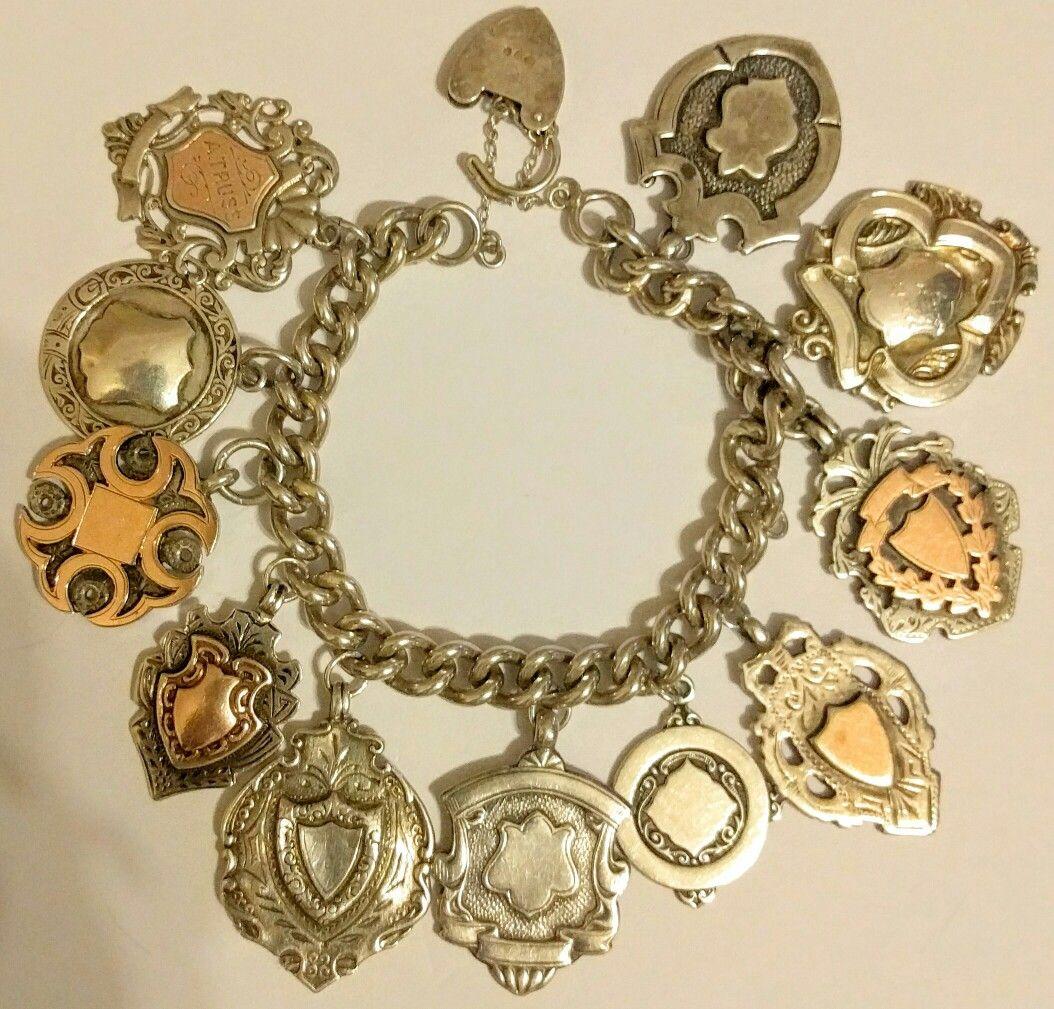 Vintage Victorian fob charm bracelet