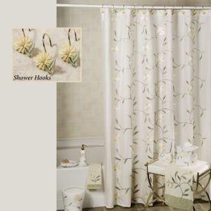 Croscill Spa Leaf Shower Curtain Hooks