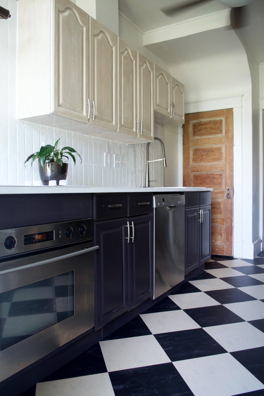 A New Homebuyer Diys A Former Dump Into A Comfy Home Black Kitchen Cabinets Diy Kitchen Black Kitchens