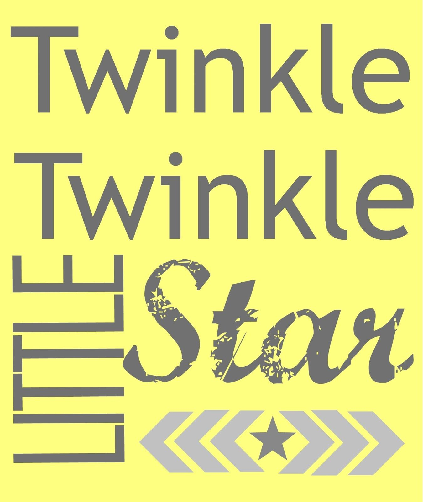 Wall Art is Addicting - & a Free Printable   Twinkle twinkle, Free ...