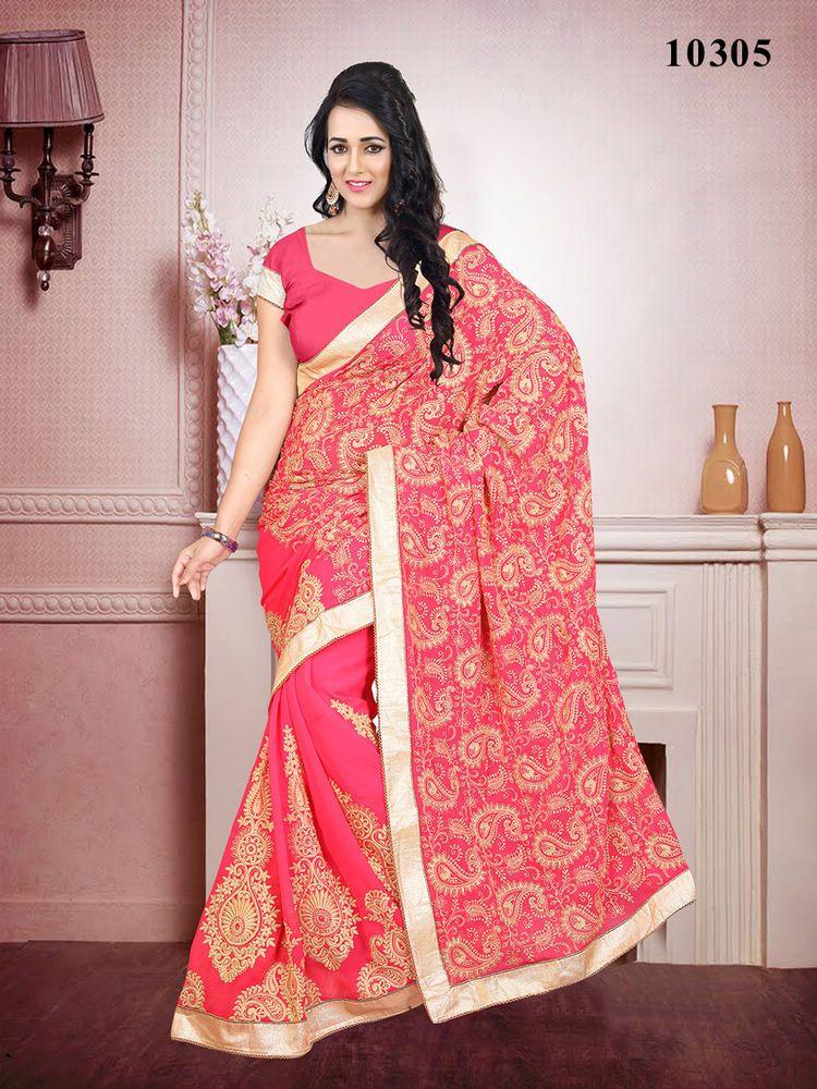 Designer Indian Dress Wedding Party Saree Ethnic Pakistani Sari ...