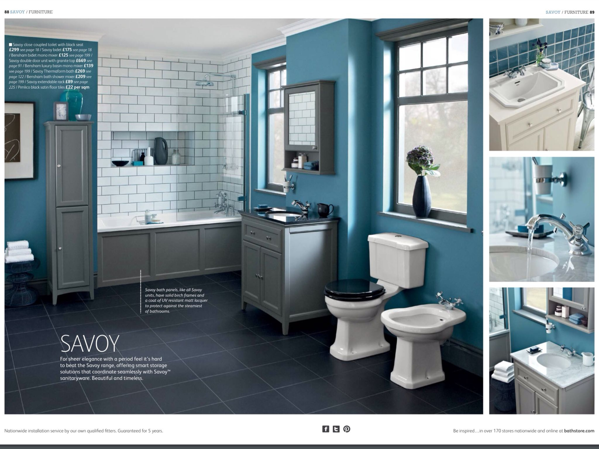 Savoy at Bathstore. Like the bath panel and grey furniture. Comes in ...