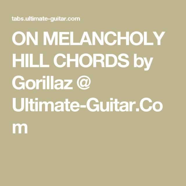 Pin by Laura Pfeiffer on Chords | Pinterest | Gorillaz, Melancholy ...