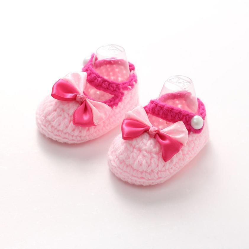 81d13c4ff22af Pink Baby Girls Shoes | 7-12 Months | Crochet | Newborn shoes ...