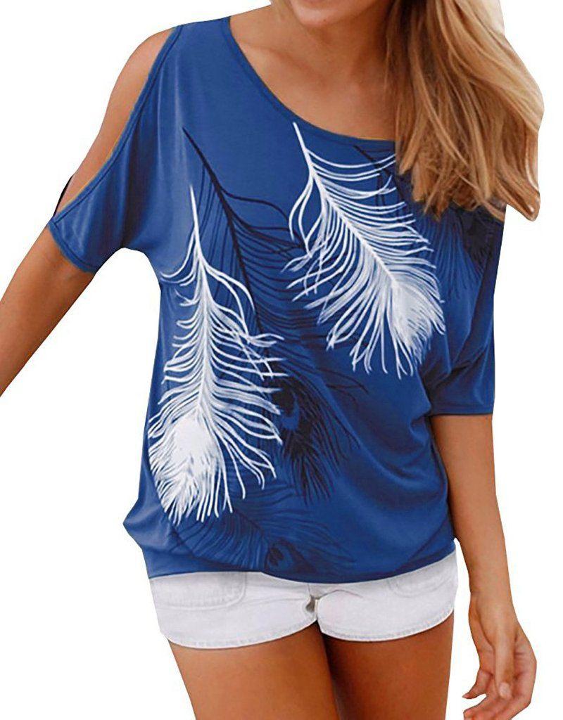 7502670b006 Relipop Women's Fashion Off Shoulder Tops Short Sleeve Blouse Casual T-Shirt
