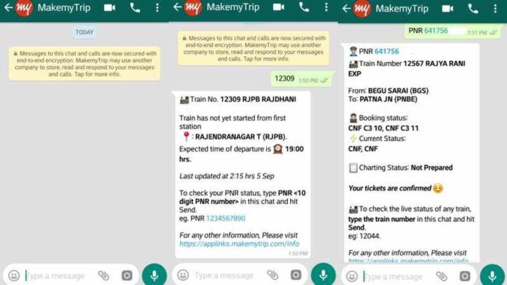 Check Train Status Through Whatsapp In India Train Status