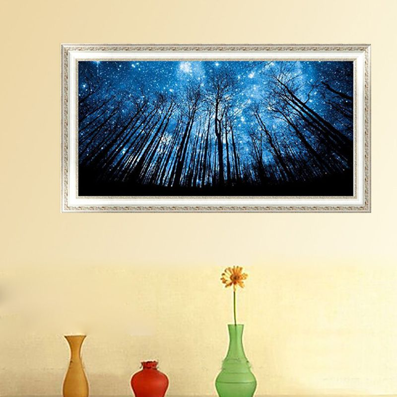 DIY 5D Diamond Embroidery Cross Stitch Forest Tree Star Painting ...