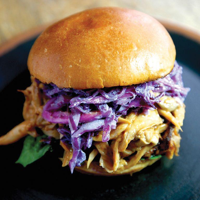 Pulled BBQ Mushroom - 2015 Best Vegetarian Sandwich -