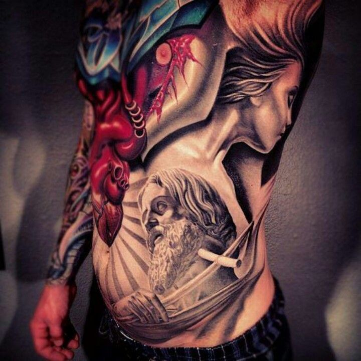 Super Sickness Nikko Hurtado Cool Tattoos Stomach Tattoos