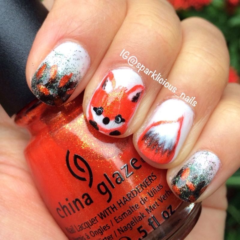 Feeling Foxy nail art by Amanda \