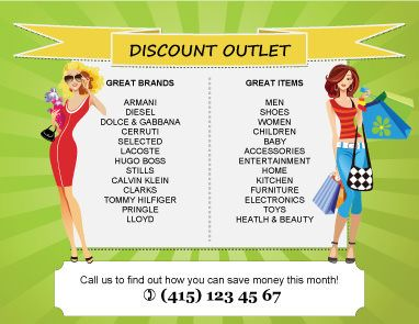 Discount Outlet Flyer Template  Marketing Flyers