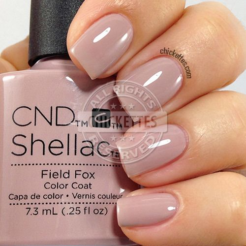 Cnd Shellac Field Fox Swatch By Ettes