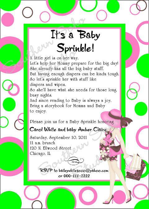 Having A Sprinkle Baby Shower Part - 23: Modern Mom Baby Shower Sprinkle Invitation By SouthernSohoStudio, $19.50