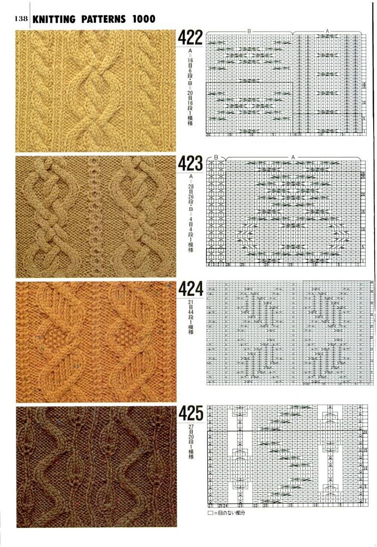 Knit stitches, love charts   Мостри   Pinterest   Puntos para tejer ...