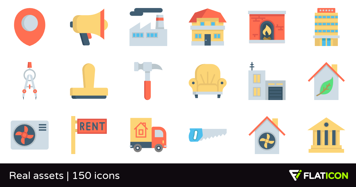 150 free vector icons of Real assets designed by Freepik