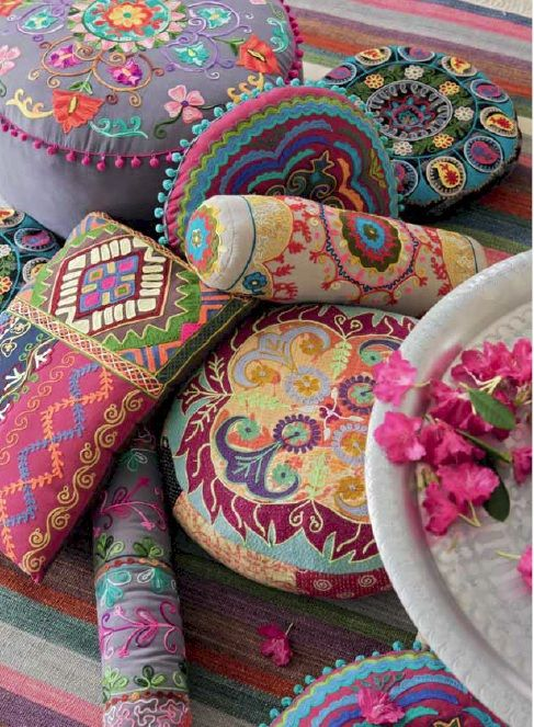 These 6 Pieces Of Colorful Furniture Are Absolute Must Haves: Everybody Loves These Bohemian Cushions By Roberto