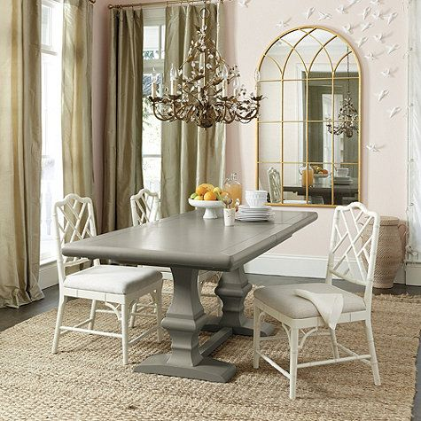 Ballard Designs - Chianni Trestle Table (in Warm Gray I ...
