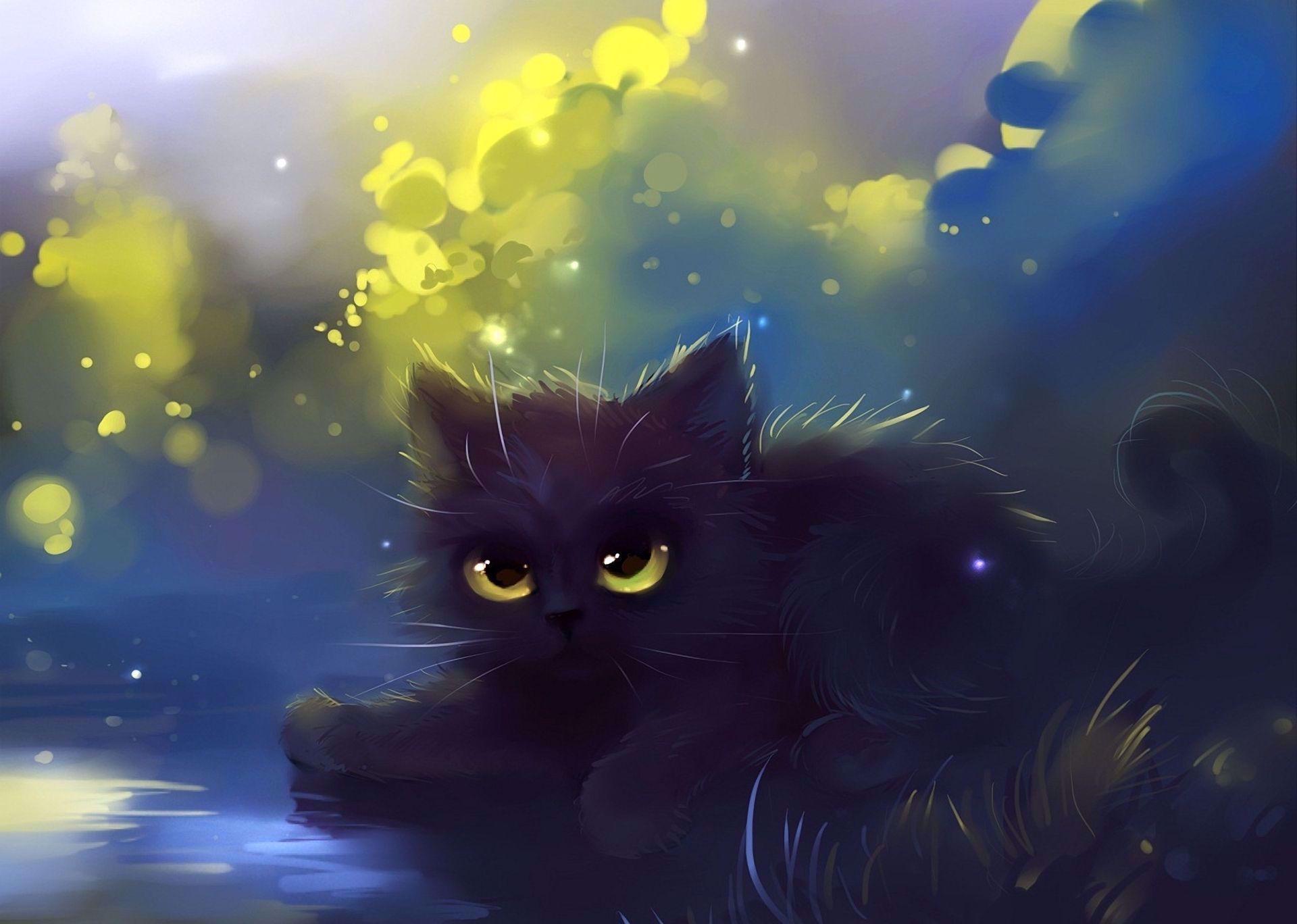 Cat Wallpaper Desktop In 2020 Cute Anime Cat