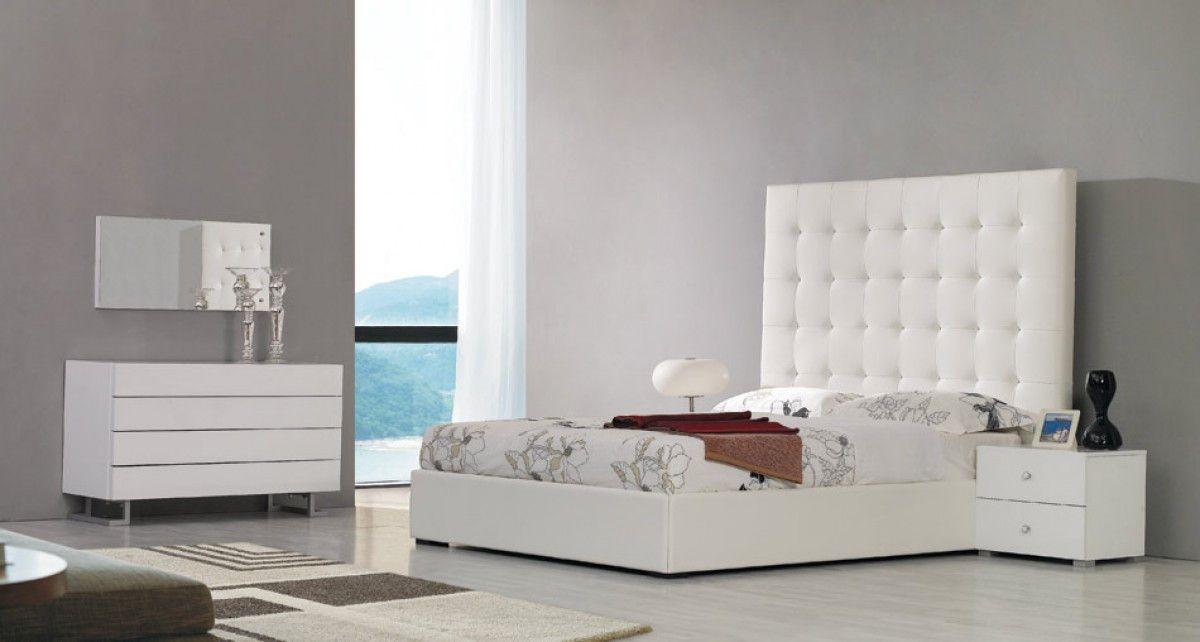 Modrest Lyrica Modern White Eastern King Bedroom Set VGJY4011-WHT ...
