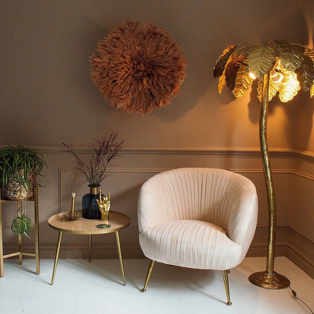 Brass Palm Tree Floor Lamp