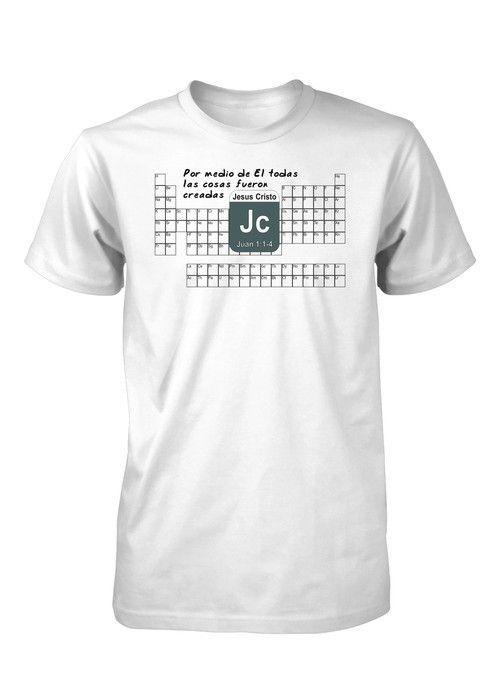 Periodica Elementos Quimica Ciencia Creacion Camiseta Cristiana - best of tabla periodica de los elementos mas importantes