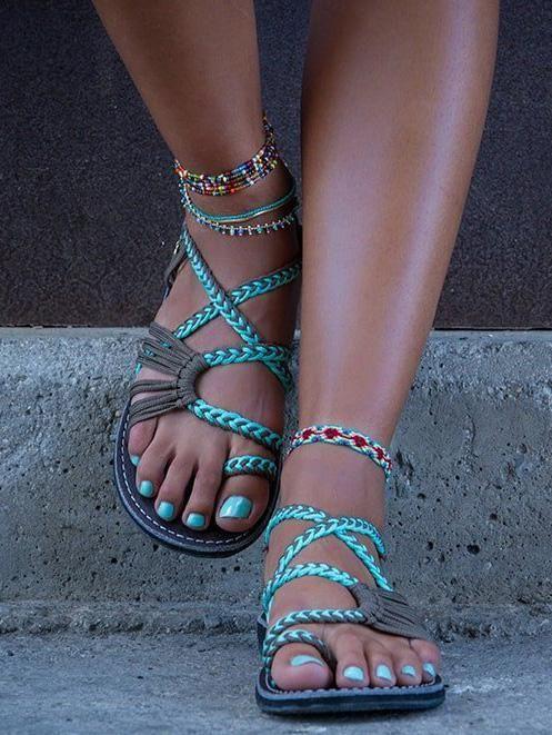 a9204da55b6 Bohemia Beach Flat Sandal Shoes