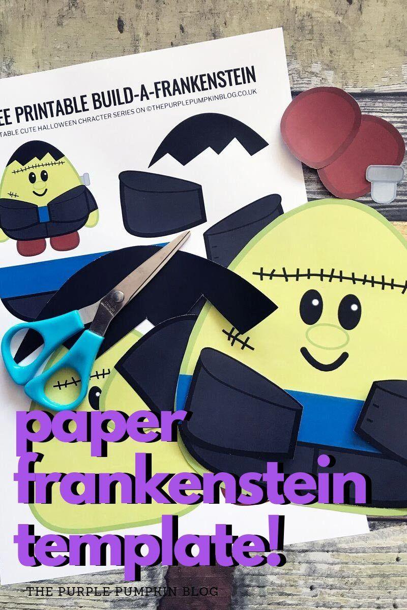 BuildaFrankenstein! Free Printable Halloween Paper Craft
