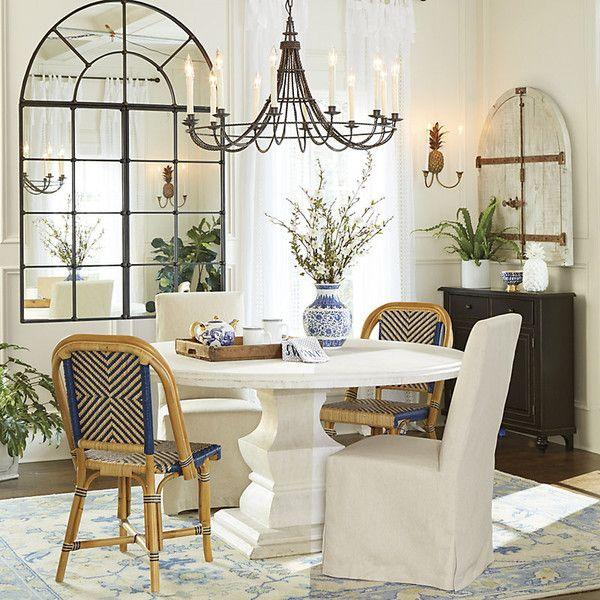 Ballard Designs Andrews Pedestal Dining Table 60 Unique Room