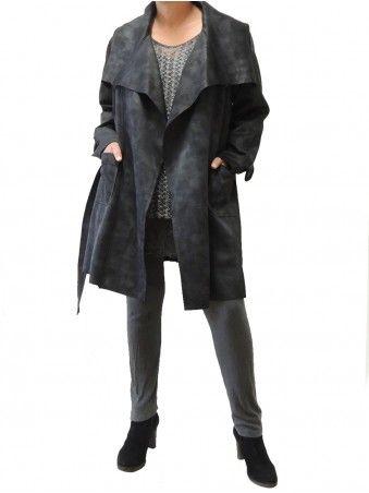 Veste simili cuir femme noir grande taille