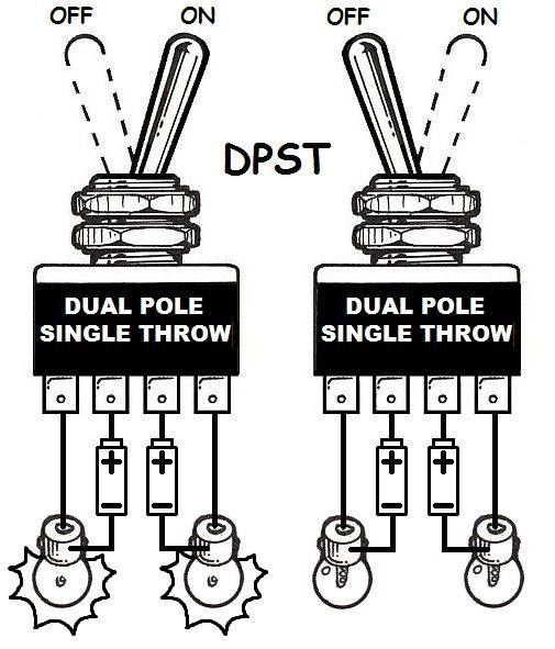 DPST wiring Electrical projects, Wire, Electronics projects