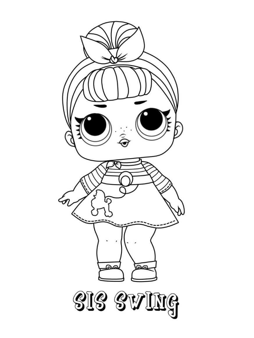 Lol Doll Coloring Pages Rocker Collection