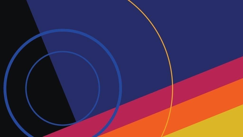 Simple Material Design Circles Strips Wallpaper Desktop