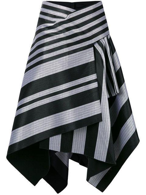 59fd930324b Proenza Schouler falda asimétrica a rayas