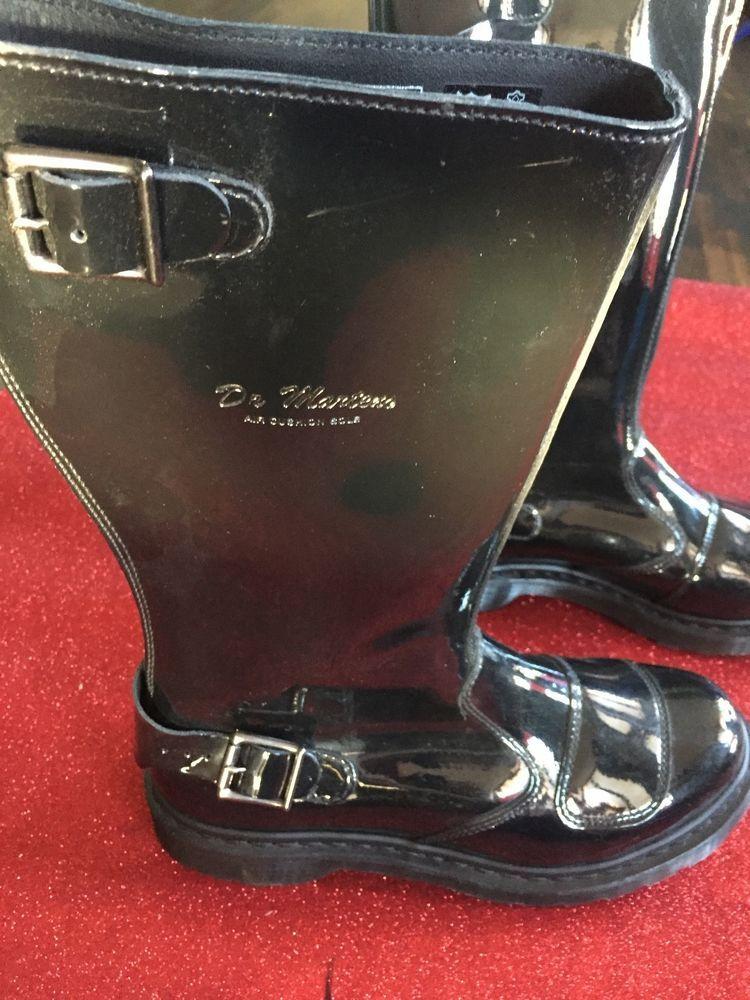 Doc Martens Stiefel Boots Uk8 42 Us10 Schwarz Biker Gummi Lack Motoradstiefel Ebay Boots Rubber Rain Boots Rain Boots