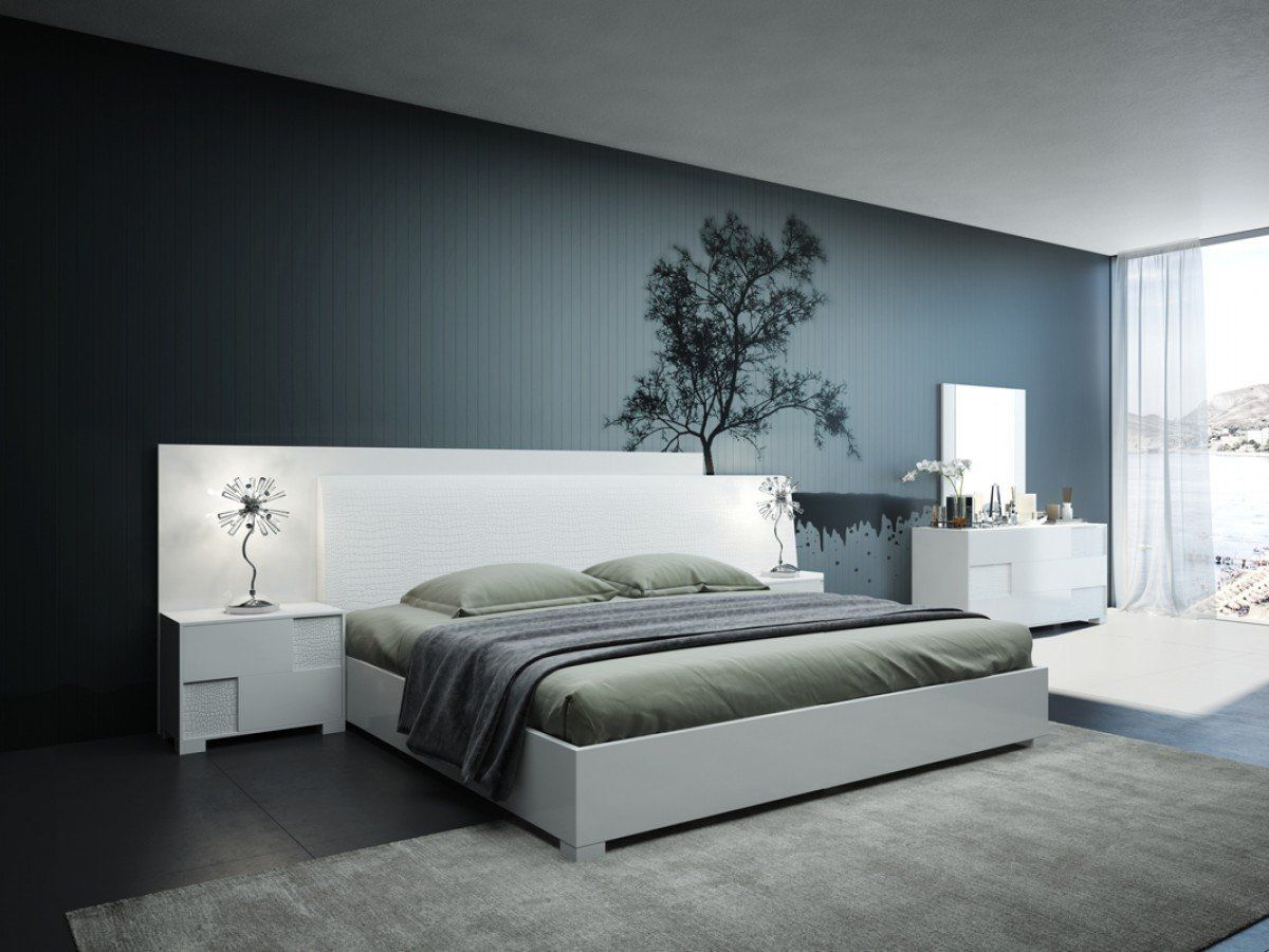 Vig Furniture Modrest Monza Italian Modern White Bedroom