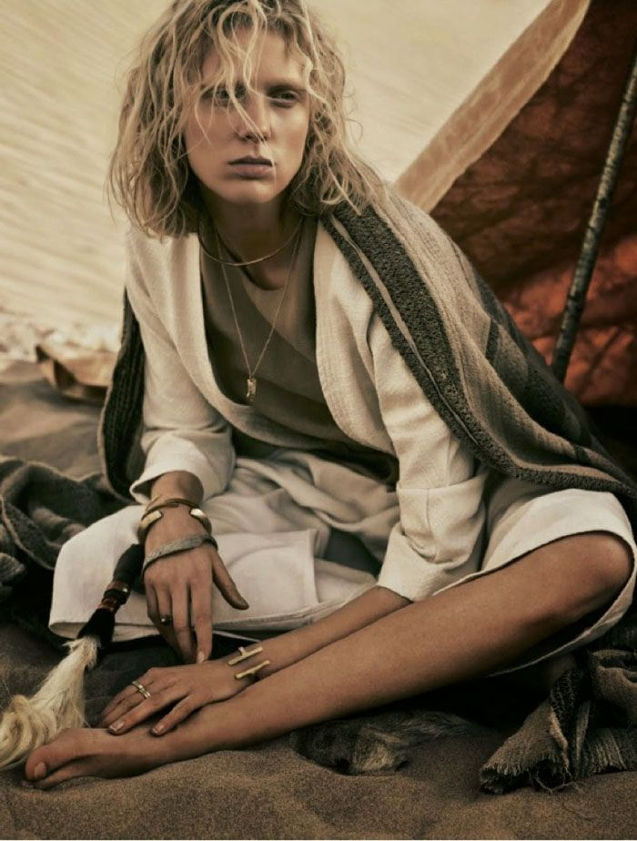Annely Bouma Is Desert Goddess Lensed By Rory Payne For Telegraph Magazine May 2015 - 15 GlamTribale Nature Inspired Jewelry - Women's Fashion & Lifestyle News From Anne of Carversville