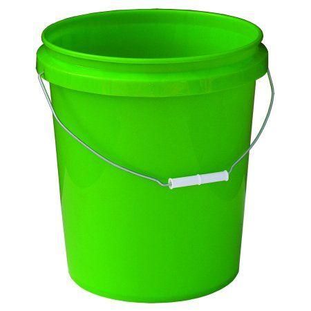 Encore Plastics Round Pail With Handle Green 5 Gallon Walmart Com In 2020 Gallon Pail Taper Design