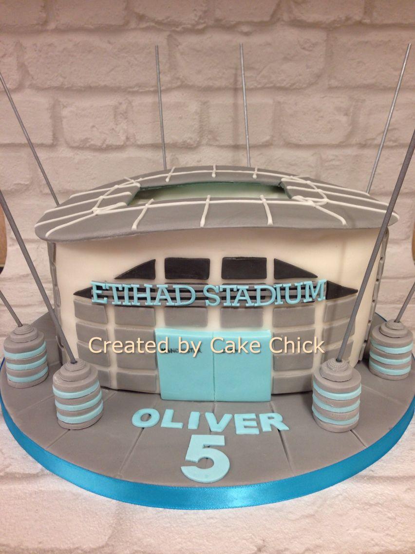 Manchester City cake, Etihad stadium cake | Football cake ...