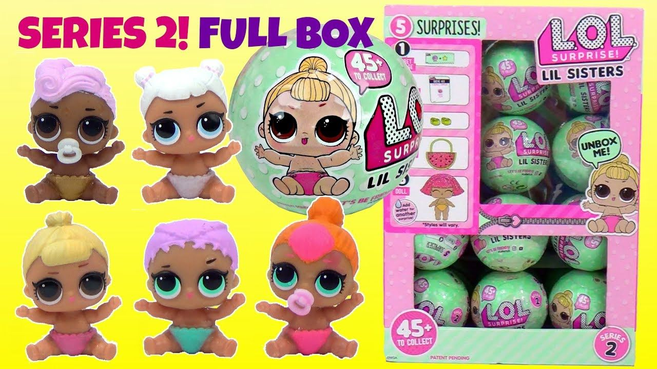 SERIES 2 2017 NEW! L.O.L WAVE 1 REAL LOL LIL SISTERS Doll Ball SURPRISE