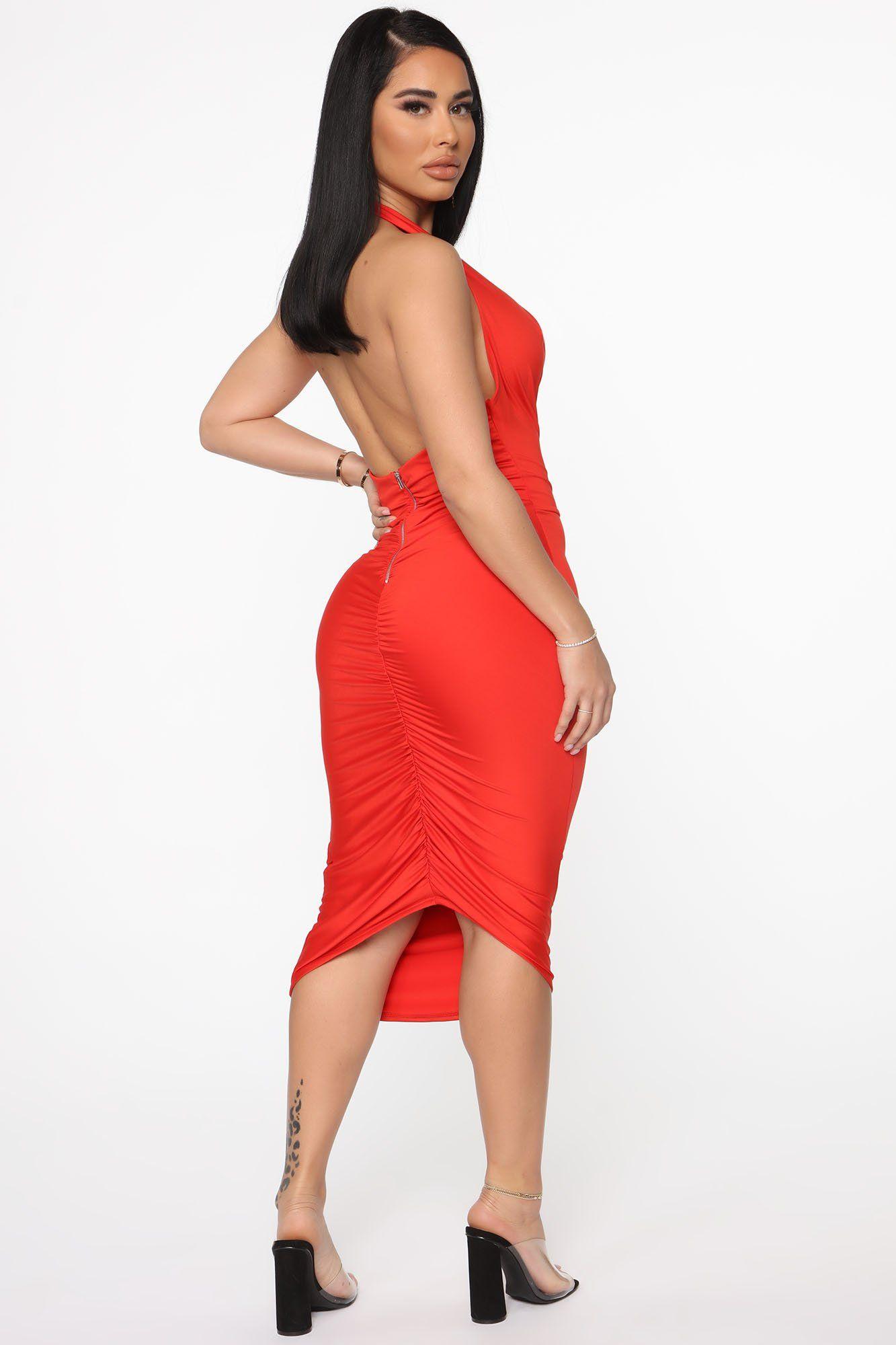 Down For Tonight Midi Dress Orange in 2020 Midi dress