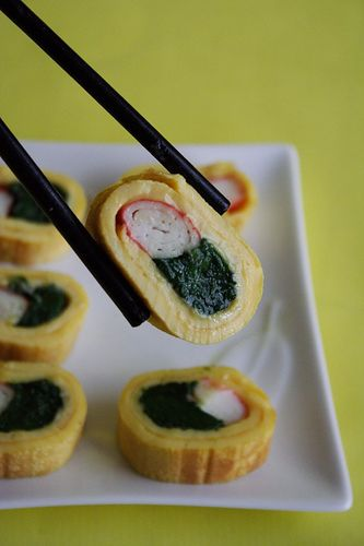 Omelette Sushi, I just might have to try this!