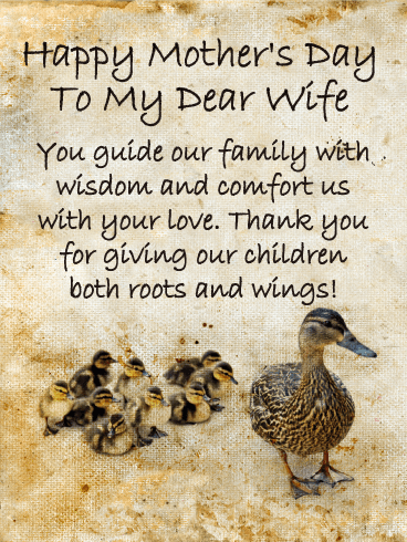 You Guide Our Family Happy Mother S Day Card For Wife Birthday Greeting Cards By Davia Happy Mothers Day Wishes Mothers Day Poems Happy Mothers Day