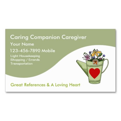 Caregiver business cards make your own business card with this caregiver business cards make your own business card with this great design all you reheart Image collections